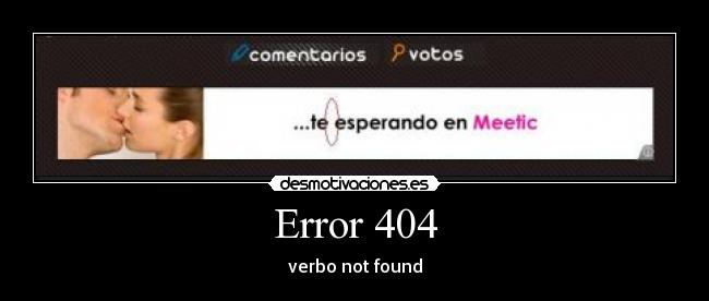 Error 404 - verbo not found