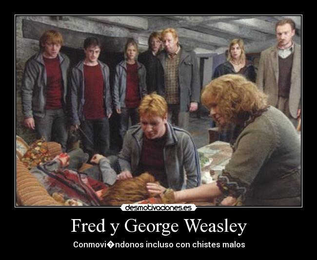 carteles harry potter fred george weasley desmotivaciones