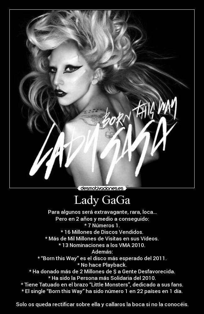 carteles lady gaga born this way desmotivaciones