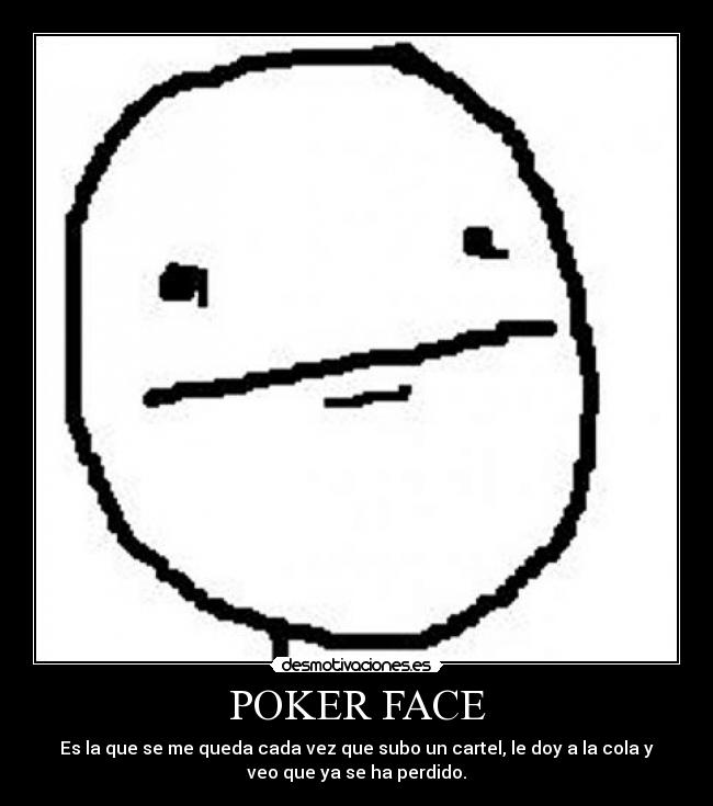 what is a poker face