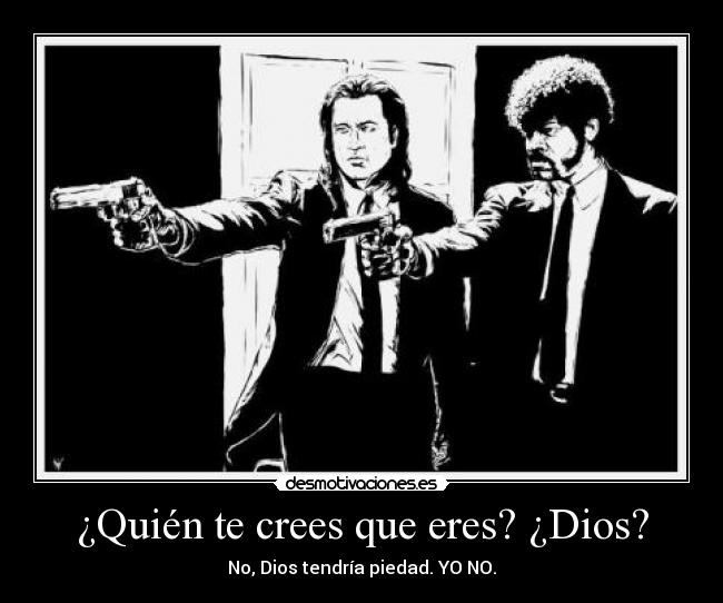 Carteles dios pulp fiction john travolta samuel jackson quentin