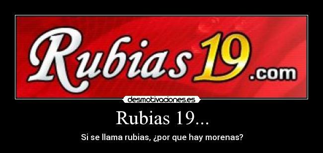 rubias 19