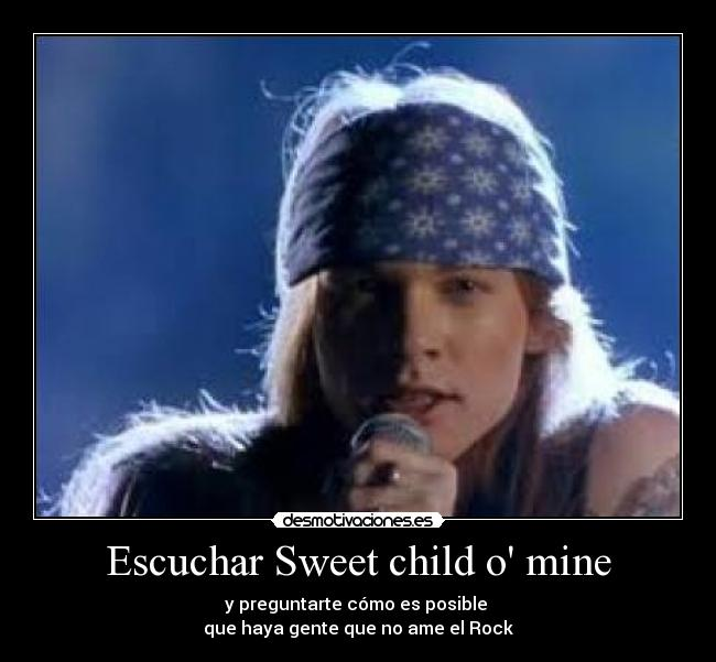 carteles guns roses rock sweet child mine desmotivaciones