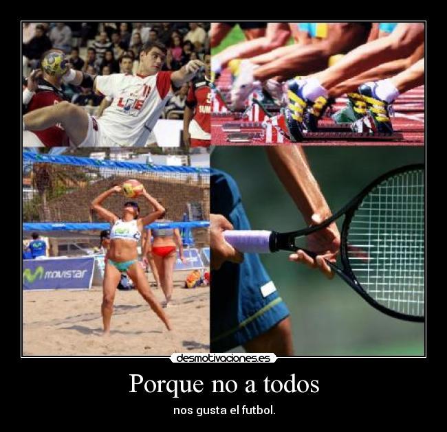 carteles tenis balonmano voleyball atletismo desmotivaciones