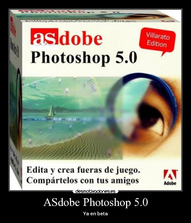 ASdobe Photoshop 5.0 - Ya en beta