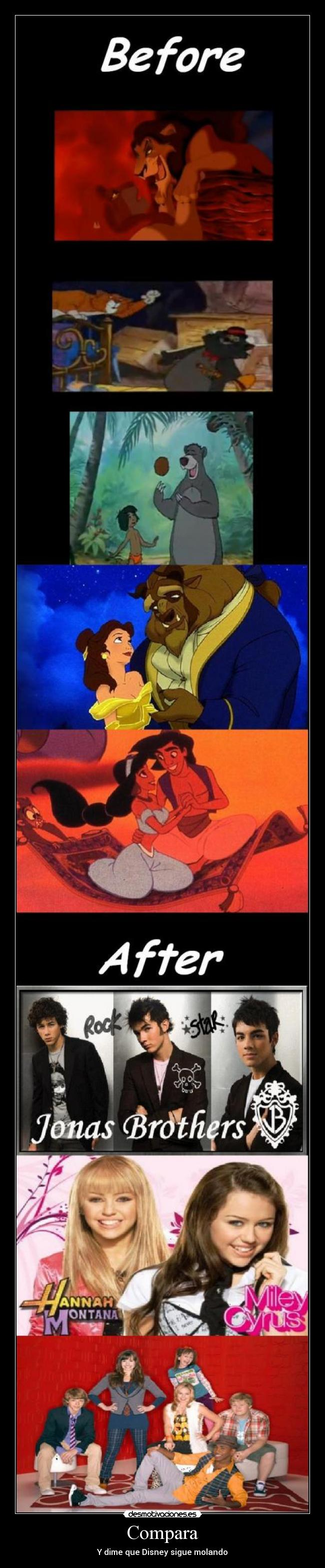 Compara - Y dime que Disney sigue molando