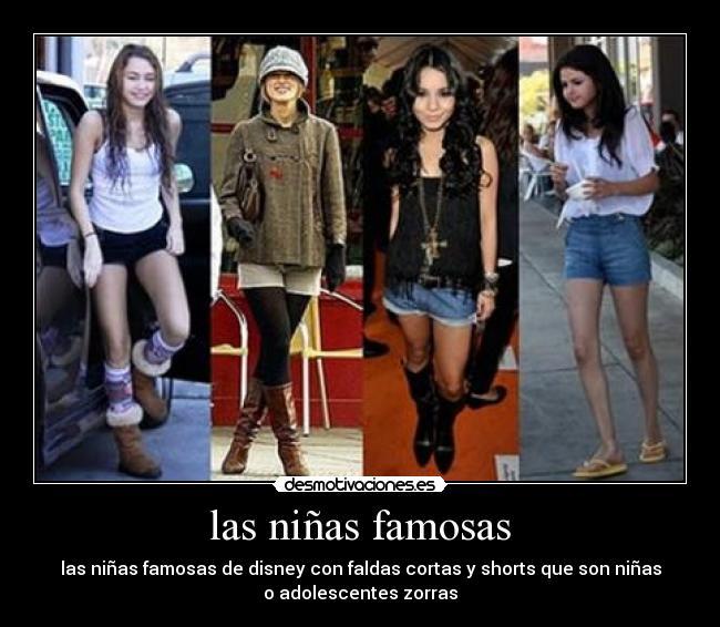 las niñas famosas