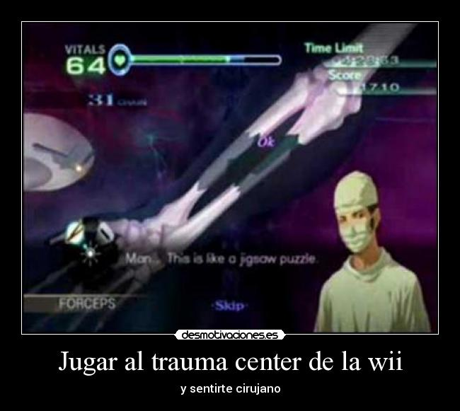 carteles trauma center desmotivaciones