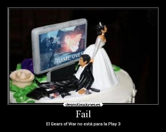 Fail - El Gears of War no está para la Play 3