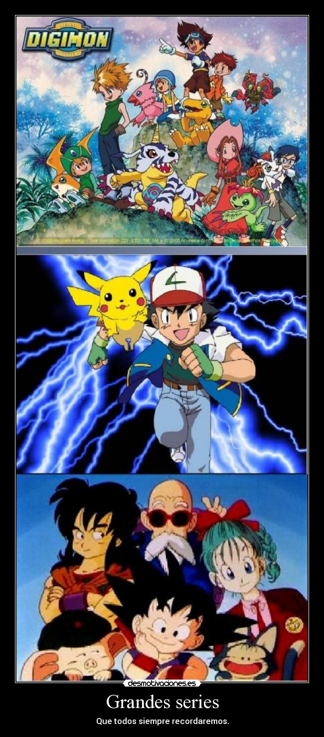 carteles dragon ball digimon pokemon ols17697 desmotivaciones