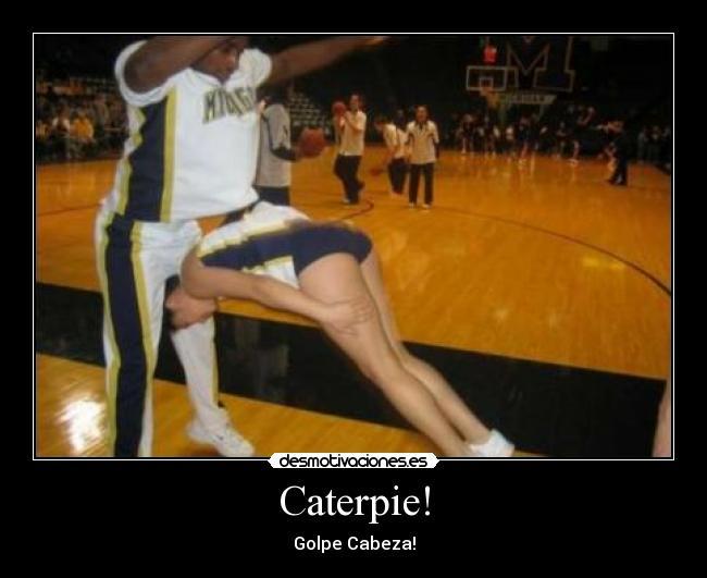 Carteles Caterpie Golpe Cabeza Rob Baloncesto Cabezazo Desmotivaciones
