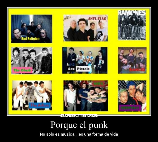 carteles green day bad religion anti flag ramones the clash sex pistols rancid the adicts nofx punk desmotivaciones