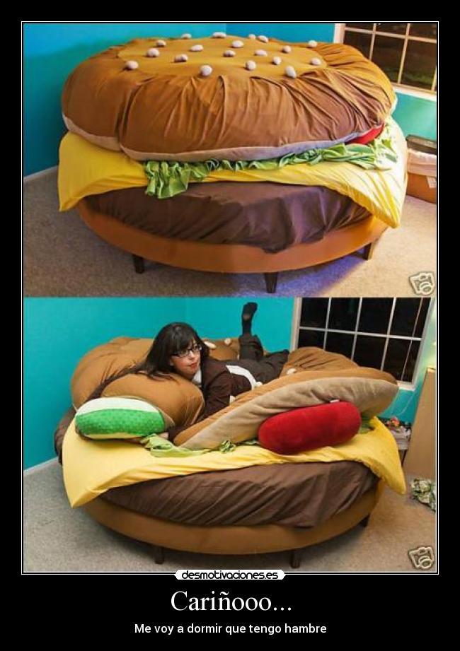 Im genes y carteles de hamburguesa pag 35 desmotivaciones for Cama hamburguesa