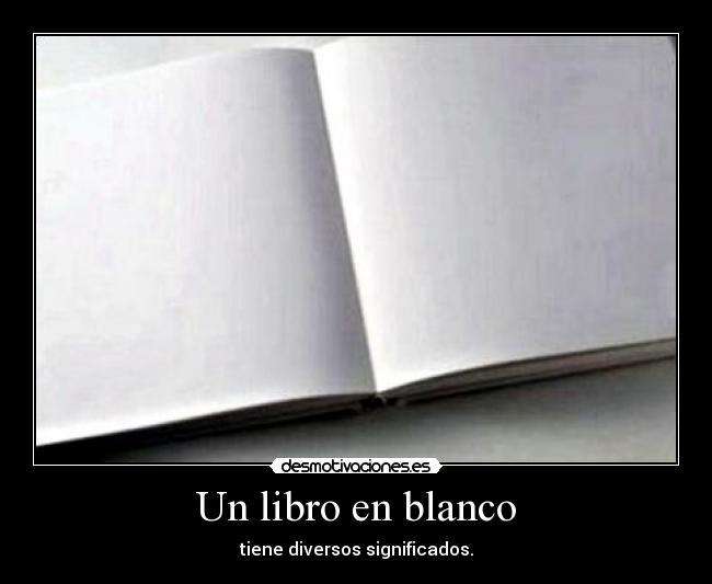 Un Libro En Blanco