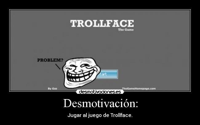 """Juego flash """"Troll Face"""" .. buenísimo! :D"""