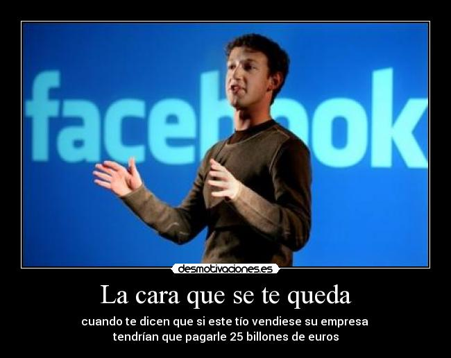 carteles facebook mark billones euros cara poker face desmotivaciones