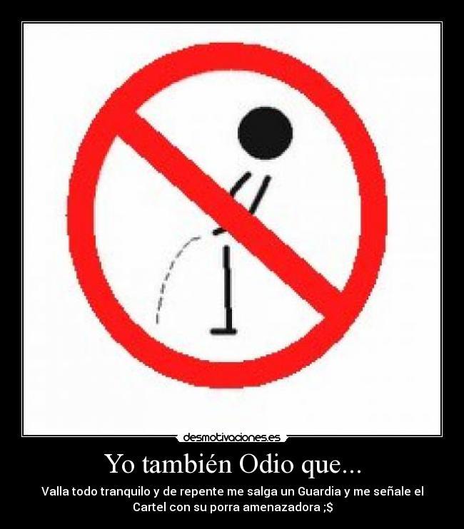prohibido meando