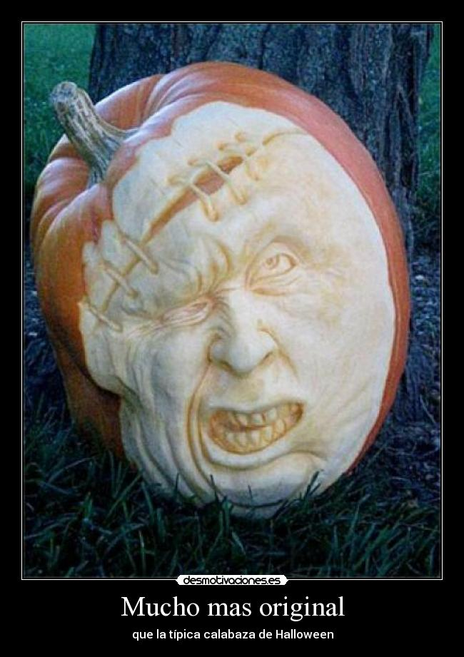 Im genes y carteles de original pag 53 desmotivaciones for Pumpkin sculpting tutorial