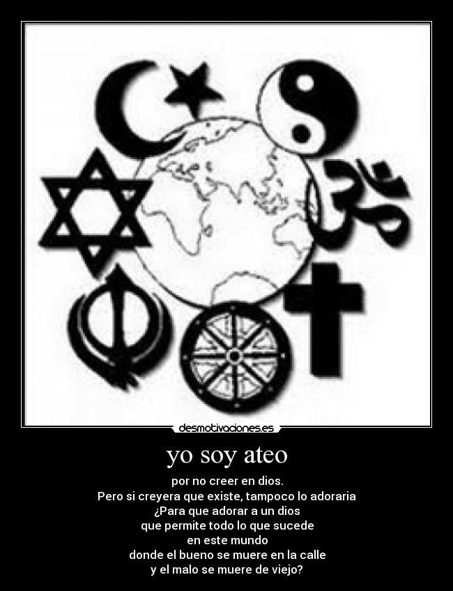 Ateo: el porqué.