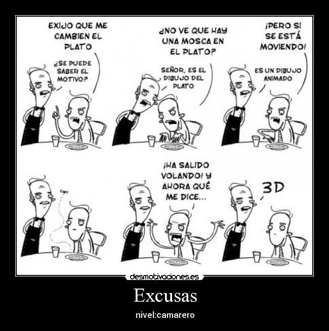 Excusas complejas