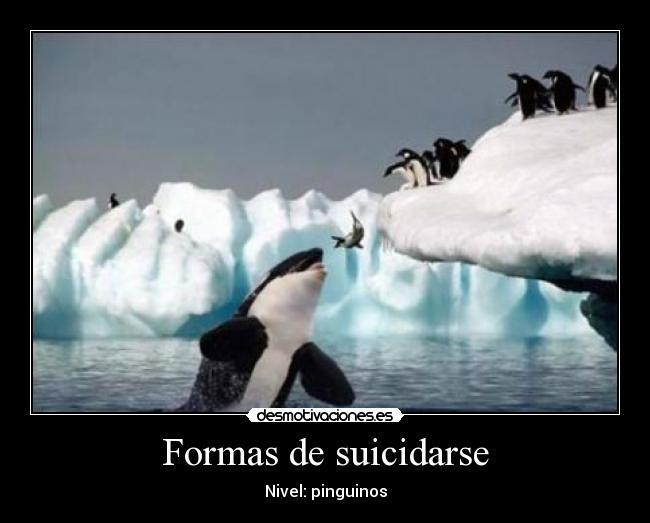 Formas de suicidarse | Desmotivaciones