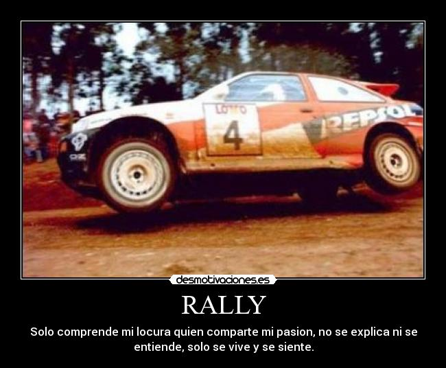 carteles rally racing ford escort cosworth desmotivaciones