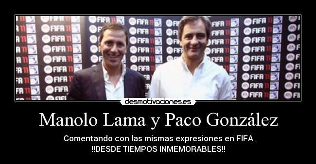 EA Sport´s Manolo Lama y Paco Gonzalez