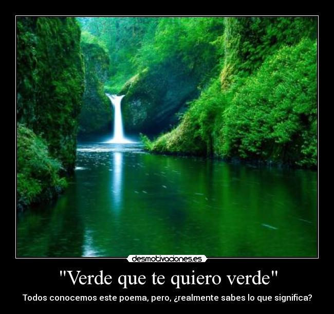 Verde que te quiero verde desmotivaciones for Que significa estanque