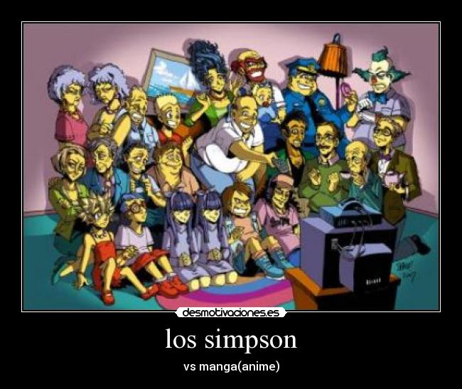 los simpson - vs manga(anime)