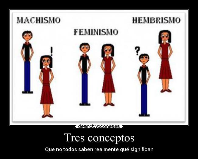 Feminismo y Hembrismo son diferentes
