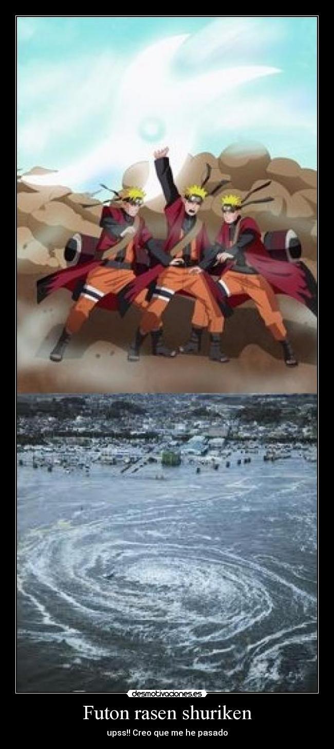 Futon Rasen Shuriken Desmotivaciones