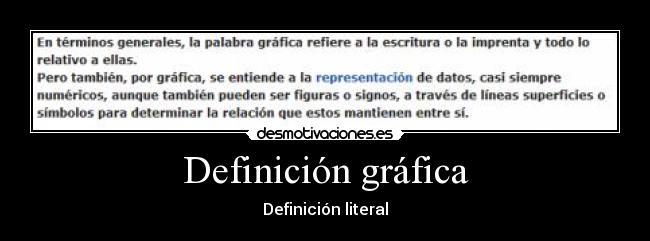 Definición Gráfica Desmotivaciones