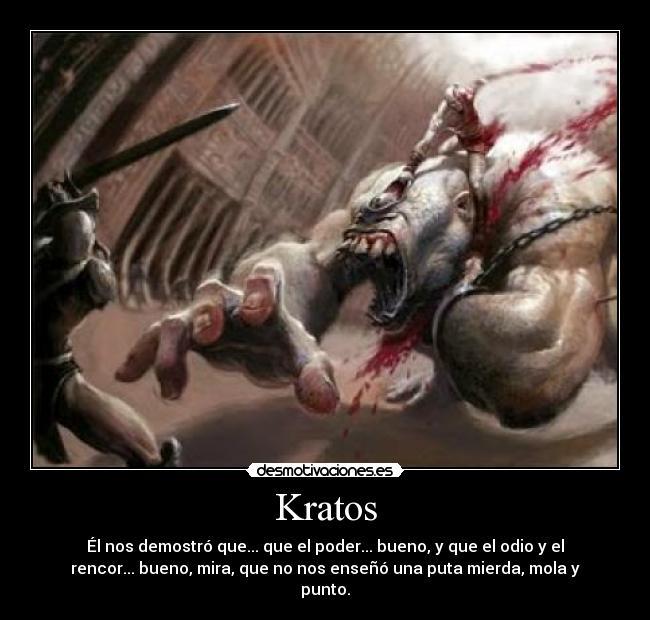 carteles kratos desmotivaciones