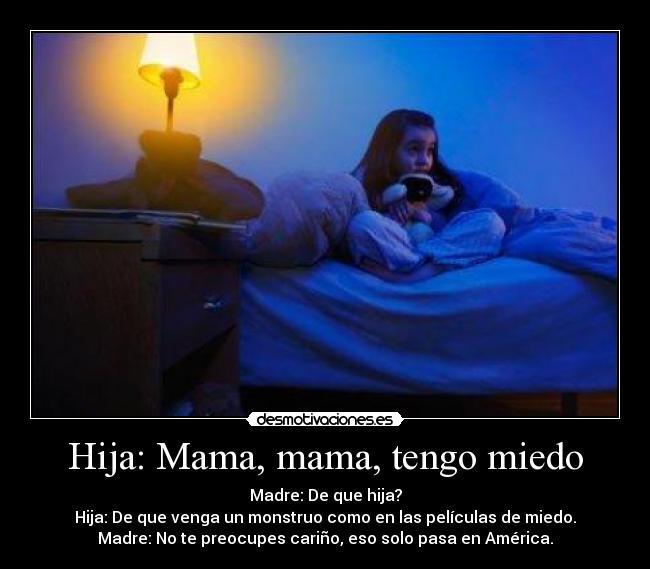 carteles miedo madre hija monstruo monstruos noche cama miedo america ...
