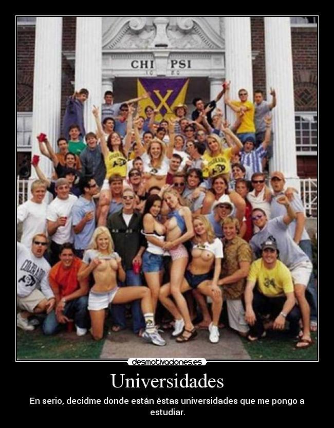 carteles universidades americanas lol desmotivaciones