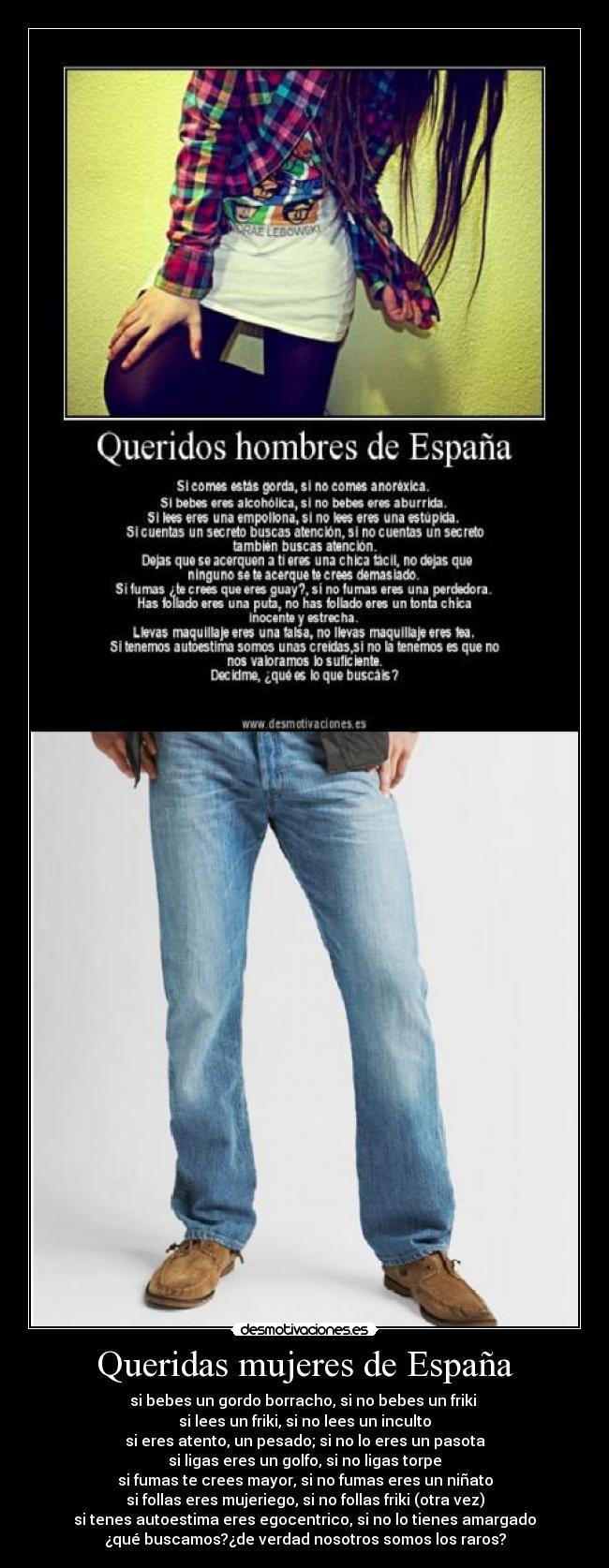 carteles espana mujeres desmotivaciones