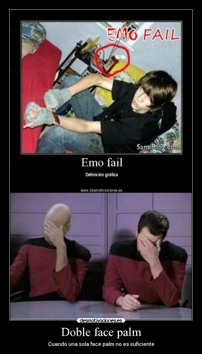 Doble face palm - Cuando una sola face palm no es suficiente