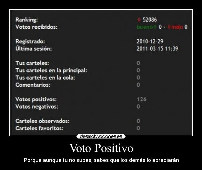 carteles voto positivo optimista generosidad desmotivaciones