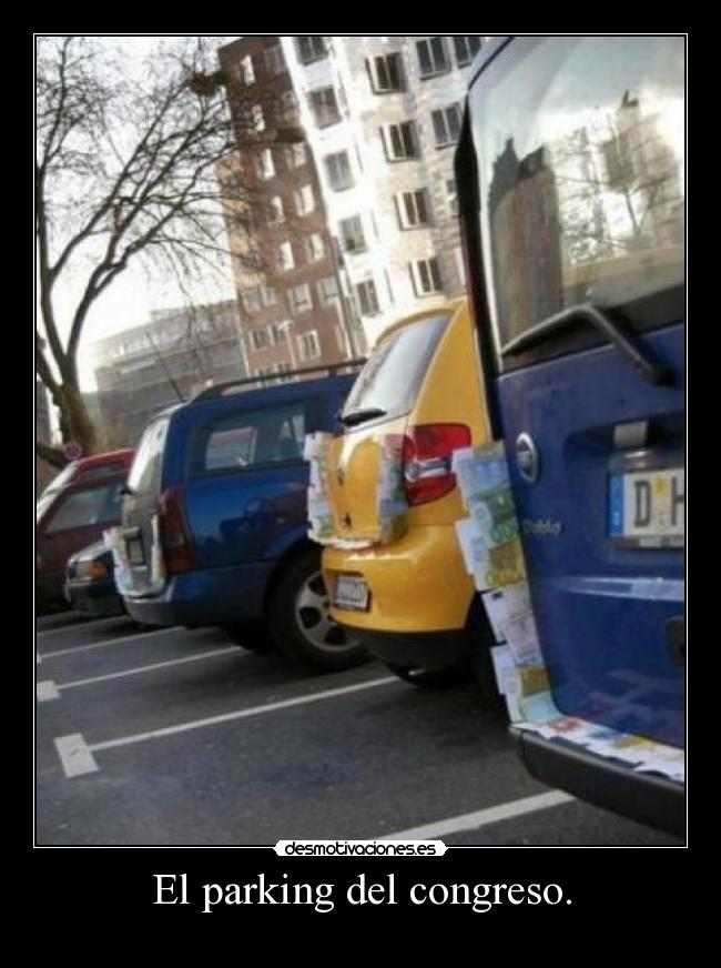 El parking del congreso. -