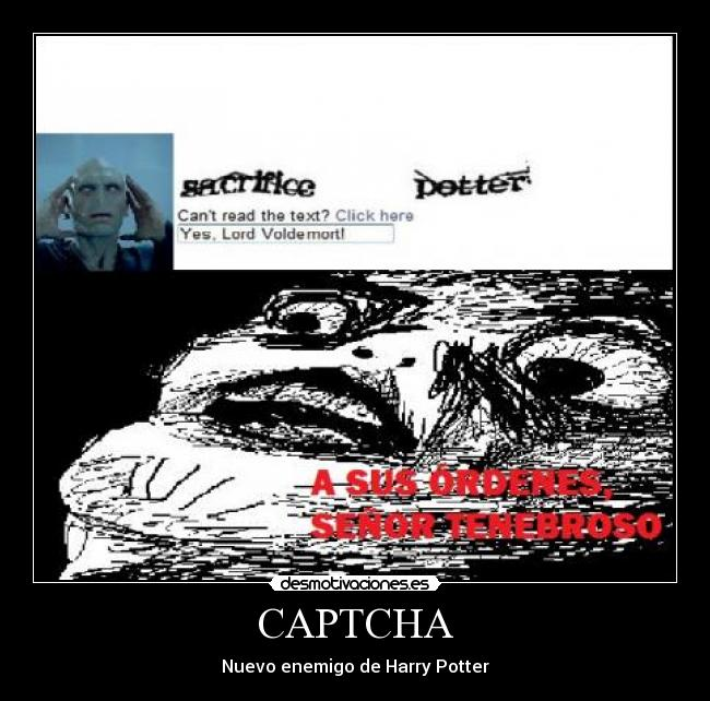 CAPTCHA - Nuevo enemigo de Harry Potter