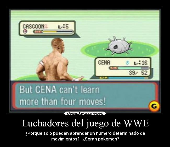 luchadores del juego de wwe desmotivaciones. Black Bedroom Furniture Sets. Home Design Ideas