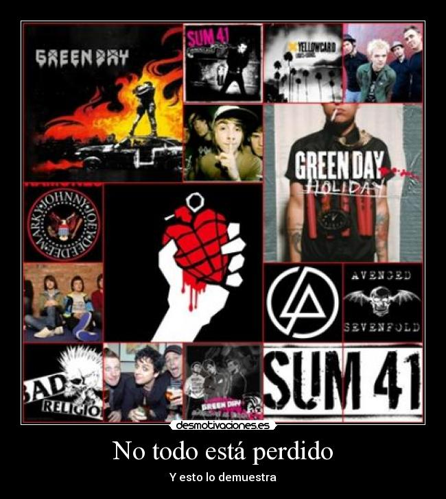 carteles green day avenged sevenfold sum bad religion keyofday arctic monkeys all time low yellowcard desmotivaciones