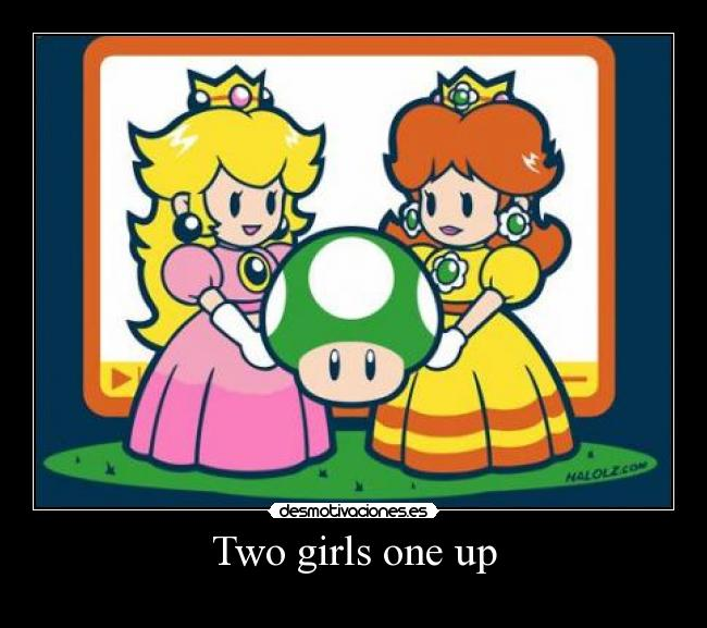Two girls one up -