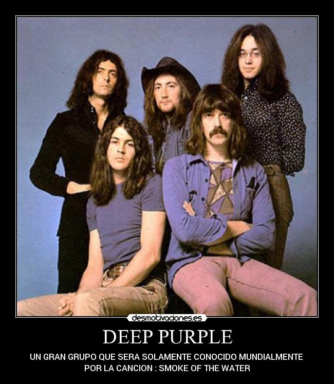 carteles deep purple hard rock smoke the water desmotivaciones