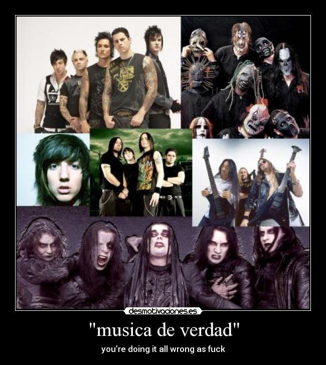 carteles musica cradle filth bring the horizon avenged sevenfold a7x slipknot bfmv metal desmotivaciones