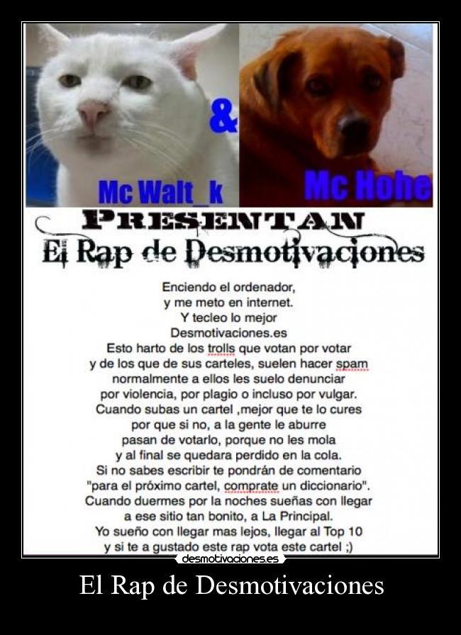 carteles desmotivaciones rap desmotivaciones