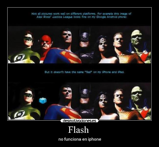 Flash  - no funciona en iphone
