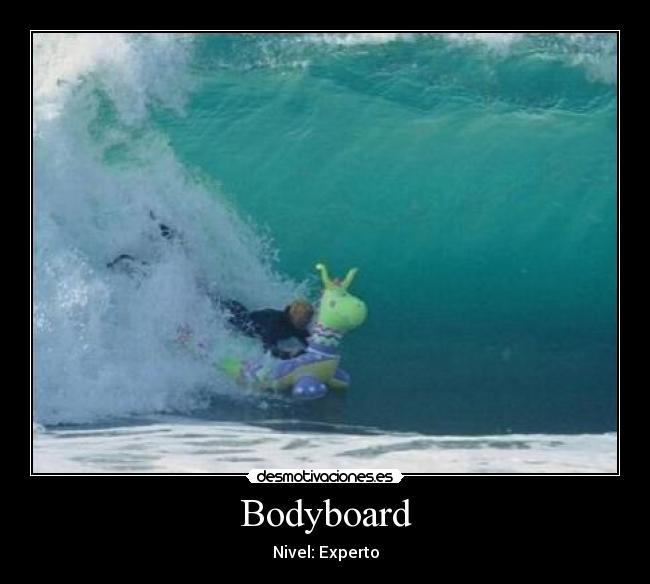 carteles bodyboard desmotivaciones