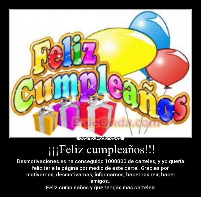 Feliz cumpleaños!!! - desmotivaciones.es