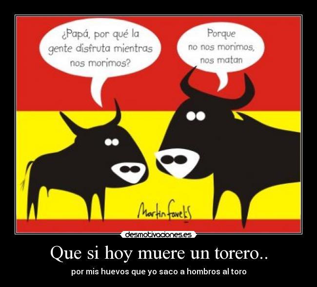carteles toro tortura toreros desmotivaciones